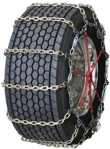 Quality Chain 3155HDQC - Heavy Duty Wide Base 10mm Alloy Square Link Truck Tire Chains (Cam)