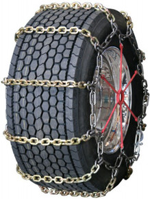 Quality Chain 3165RHD - Heavy Duty Wide Base 10mm Alloy Square Link Truck Tire Chains (Non-Cam)