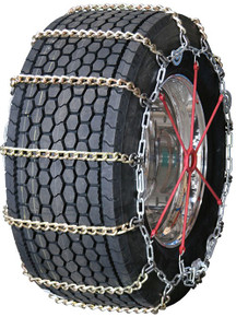 Quality Chain 3165SLCTWIST - Wide Base 8mm Alloy Twisted Square Link Truck Tire Chains (Cam)