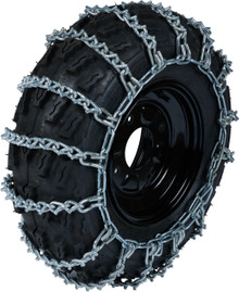 Quality Chain ATV-D-2 5.5mm V-Bar Link ATV & UTV Tire Chains (2-Link Spacing)