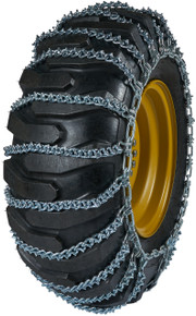 Quality Chain 2615V-2 - 10mm V-Bar Link Loader/Grader Tire Chains (2-Link Spacing)