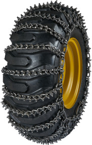 Quality Chain 9933-2 - 11mm Premium Alloy Studded Link Loader/Grader Tire Chains (2-Link Spacing)