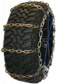 Quality Chain 3128RHD - Wide Base Heavy Duty 8mm Alloy Square Link Tire Chains (Non-Cam)