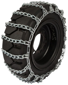 Quality Chain 1507-2 8mm Link Skid Steer Tire Chains (2-Link Spacing)