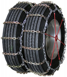 Quality Chain 4147HDQC - Heavy Duty Dual/Triple 8mm Alloy Square Link Truck Tire Chains (Cam)