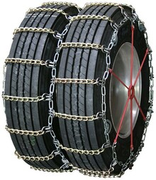 Quality Chain 4133SLCTWIST - Dual/Triple 7mm Alloy Twisted Square Link Truck Tire Chains (Cam)