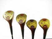 Wisdom Hand Crafted Oil Hardened Genuine Persimmon Golf Woods