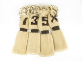 Set of 4 VINTAGE Knit Sock Golf Headcover