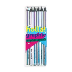 Holla! Graphic Graphite Pencils - Set of 6