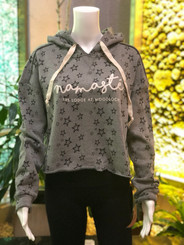 Namaste TLAW Starry Cropped Hoodie - Gray