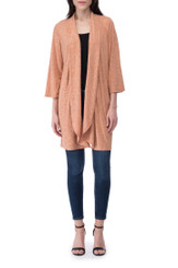 Ellen Waterfall Ribbed Cardi - Hazel