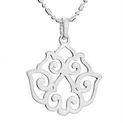 Cutout Lotus Necklace