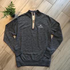 Men's Marled Raglan 1/4 Zip Sweater