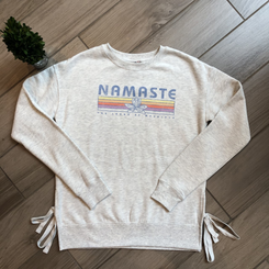 Namaste TLAW Side Tie Crew Grey
