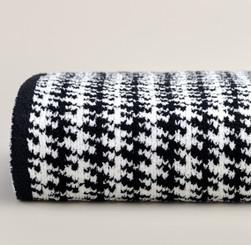 Kashwere Throw - Houndstooth Black/Creme