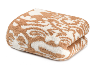 Kashwere Throw - Damask Camel/Creme
