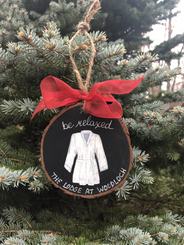Be Relaxed Lodge Robe Ornament