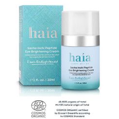 """I am Enlightened"" Sacha Inchi Peptide Eye Brightening Cream - Certified Cosmos Organic"