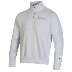 Unisex Reverse Weave 1/4 Zip - Gray