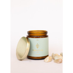 Amber Crystal Candle - Moonstone