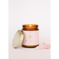 Amber Crystal Candle - Rose Quartz