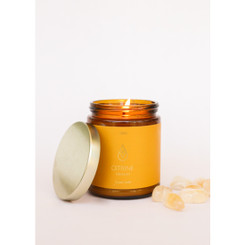 Amber Crystal Candle - Citrine
