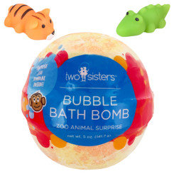 Zoo Animal Squishy Surprise Bubble Bath Bomb with Kids Toy