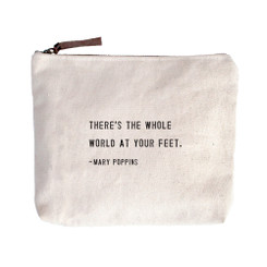 Canvas Zip Bag - Mary Poppins