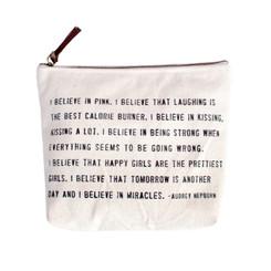 Canvas Zip Bag - Audrey Hepburn