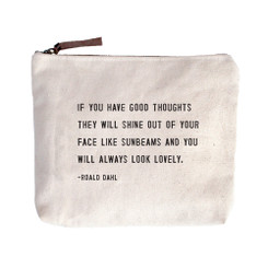 Canvas Zip Bag - Roald Dahl