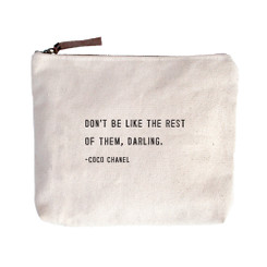 Canvas Zip Bag - Coco Chanel