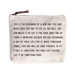 Canvas Zip Bag - This is the Beginning