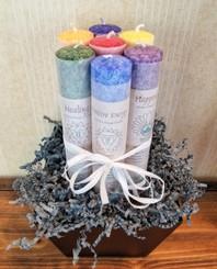 Chakra Candle Gift Basket