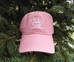 Cotton Cap w/ Lotus - Pink