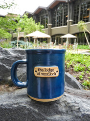 Stoneware Lodge Logo Mug - Blue
