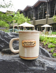 Stoneware Lodge Logo Mug - Cream