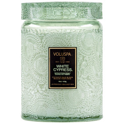 Large Holiday Jar Candle - White Cypress