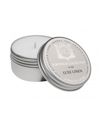 Luxe Linen Candle - Travel Tin