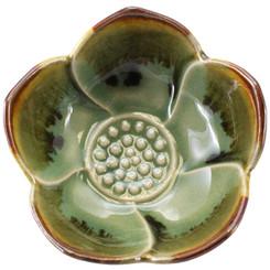 Ceramic Lotus Cup - Green