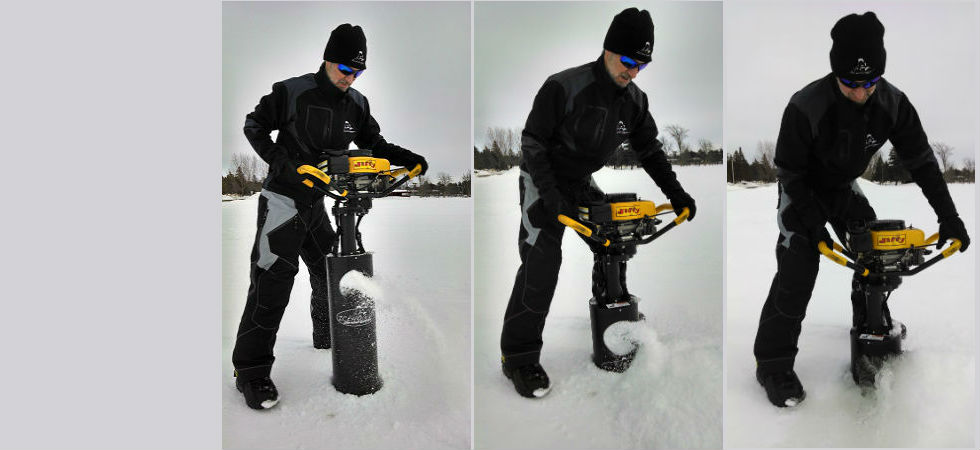 Ice Auger Shroud System and Magnetic Blade Guards