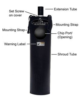 Our Ice Auger Shroud System adapts quickly and easily to power ice drills. Made from HDPE. Weighs 5 Lbs.  Made in the USA. See product details for Standard vs. Legacy drills.