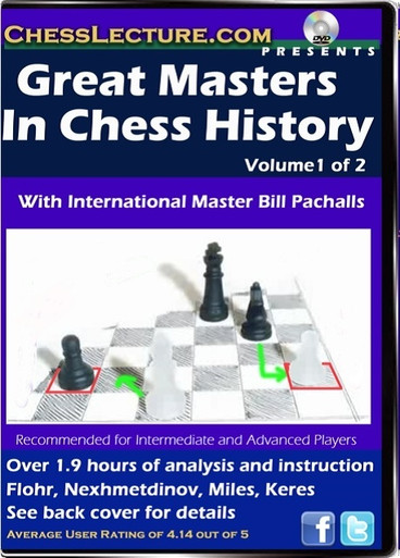 Great Masters in Chess History Volume 1 Front
