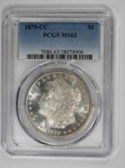 1879-CC Morgan Dollar, NGC or PCGS graded MS63