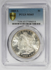 1889-S Morgan Dollar, NGC or PCGS graded MS65