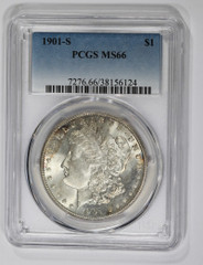 1901-S Morgan Dollar, NGC or PCGS graded MS66