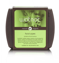 WOTNOT has produced a facial wipe so natural your skin will love it as much as you do. Facial skin is so delicate that only the most natural ingredients should be used in facial care products.  Our formula is enriched with all natural ingredients to gently cleanse without irritation.  There are no drying alcohols which can stress skin and lead to an overproduction of sebum causing a vicious cycle of oil production and no petroleum oils which can lead to clogged pores.  Out wipes contain Australian certified organic pink grapefruit and petitgrain to gently cleanse and certified organic rosehip and papaya (pawpaw) to help keep skin naturally healthy and hydrated.  Certified organic rosehip oil has been added for skin regeneration and moisture re-balancing and is easily absorbed to condition skin and eyelids making lashes more lush.  Naturally sourced nutrients like vitanim e help heal, nourish and protect leaving skin smooth, supple and glowing.  A make-up bag essential that removes daily impurities and grime and gently wipes away make-up including waterproof mascara.  WOTNOT natural ingredients mean less irritation for your skin and being 100% biodegradable and compostable, these wipes are even gentle on the environment.