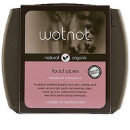 WOTNOT has produced a facial wipe so natural your skin will love it as much as you do. Facial skin is so delicate that only the most natural ingredients should be used in facial care products.  Our formula is enriched with all natural ingredients including Australian certified organic aloe vera to lubricate and repair, certified organic sweet almond oil to restore lost moisture and calm itch and inflammation, and certified organic rosehip oil for skin regeneration and moisture re-balancing. The certified organic rosehip oil base is easily absorbed to condition skin and eyelids making lashes more lush, while the naturally sourced nutrients like Vitamin E help to heal, nourish and protect leaving the skin smooth, supple and glowing.  A make-up bag essential that removes daily impurities and grime and gently wipes away make-up including waterproof mascara.  WOTNOT natural ingredients mean less irritation for your skin and being 100% biodegradable and compostable, these wipes are even gentle on the environment.