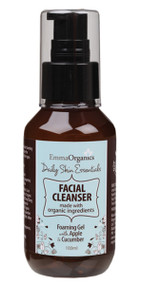 Emma Organics Essential FACIAL CLEANSER is a delicate foaming cleanser formulated to gently lift impurities and leave the complexion fresh and clean. A great balance for all skin types.