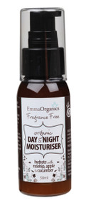 Emma Organics Fragrance Free DAY & NIGHT MOISTURISER is easily absorbed and rebalances skin sensitivity and dryness. For a smooth healthy glow and all day protection, use every time after cleansing.