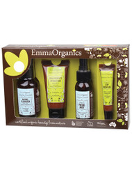 Emma Organics Gift/Travel Pack is perfect for sampling some of our gorgeous products, as a gift for someone special or to take with you on holidays.  All products are less than 100ml, so are suitable for airline travel, and include all of your holiday essentials: sunscreen, facial mist and lip rescue (perfect for hydrating during long flights) and cleanser to cleanse your face at the end of the day.  Daily Skin Essentials - Facial Cleanser (100ml) Daily Skin Essentials - Organic Facial Mist (50ml) Distinctive Skin Care - Sun Protect Hydration SPF15 (50ml) Daily Skin Essentials - Organic Lip Rescue (15ml)
